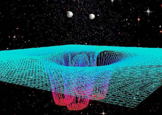 Gravitational wave form colliding black hole
